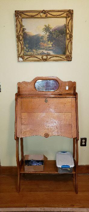 drop down secretary, framed art