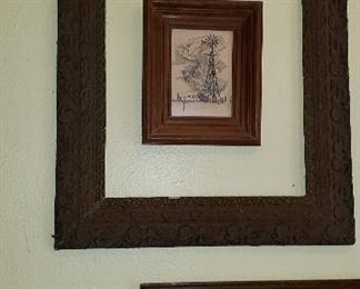 vintage picture frames, water color