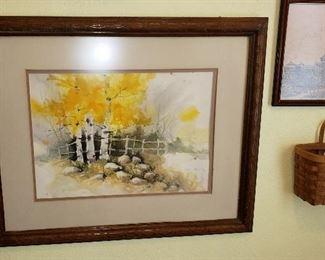 Watercolor, framed art