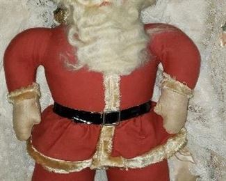 Old, Old cloth Santa in great condition.  No mold, no tears