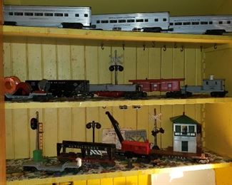 Lionel trains, stop sign, more