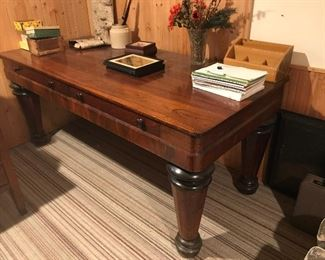 large rosewood desk, over 6 feet long