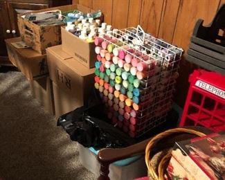 tons of art supplies