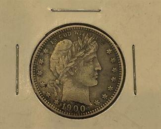 1900 Silver Quarter