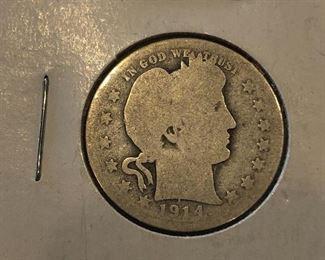 1914S Silver Quarter