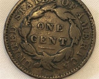 1847 One Cent Coin