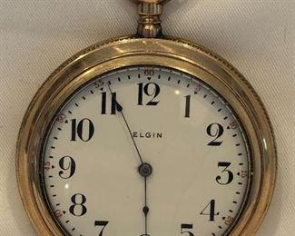 Elgin 15 Jewel Gold Filled Pocket Watch