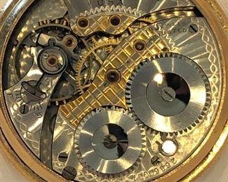 Waltham Premier 19 Jewel 14k Gold Filled Pocket Watch