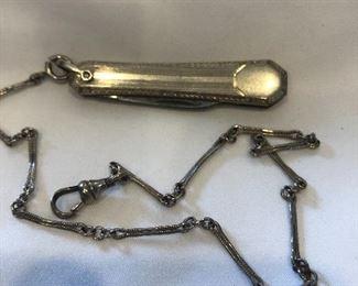 White Rolled Gold Pocket Knife