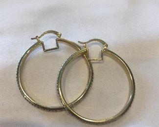 Swarovski Crystal Hoop Earings