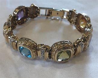 Ross Simons 14k Gold & Semi-Precious Stones Bracelet