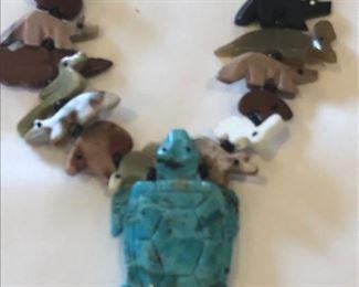 Navajo Fetish Creature Necklace