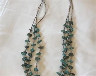 Navajo Turquoise and Sterling Necklace