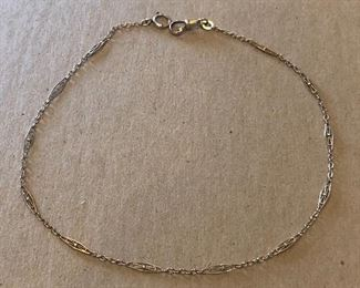 10k Gold Watch Fob Chain