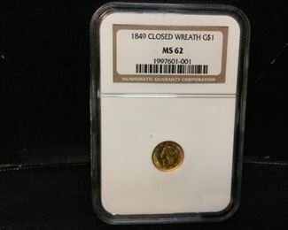 1849 liberty gold dollar coin