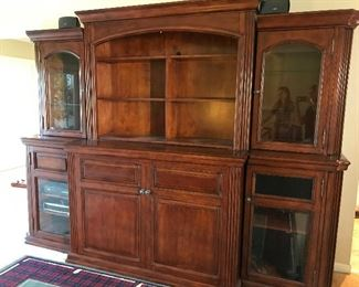 Bookcase/Curio cabinets with built-in TV