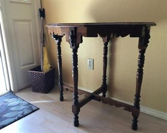 Front Hallway: Table