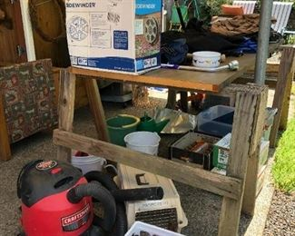 Back Yard: Shop-Vac, Gas Cans, Planting Pots and other Things