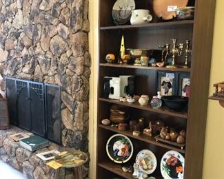 Living Room:  Plates, Candle Holders, Small Collectibles