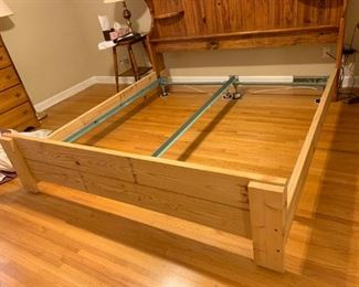 #1 King Size wood Shelf Headboard w/reinforced Frame (2x10's) $75.00