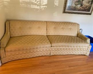 """#3Curved Back Sofa - Claude Pearson  93"""" Long $100.00"""
