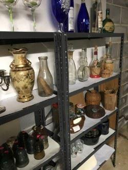 Pottery, porcelain, glassware & bottles