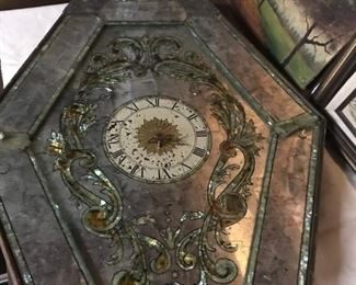Mother of pearl inlaid clock