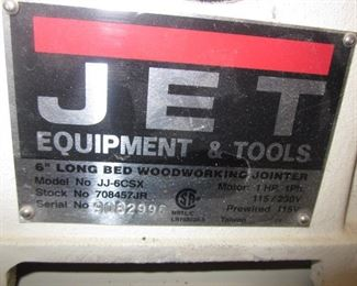 Jet Woodworking Jointer