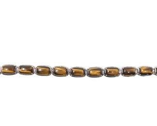 2. Sterling Silver Bracelet with Tigers Eye