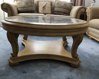 Coffee table has matching side table