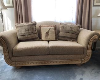 Really nice couch and love seat. Matches with coffee table