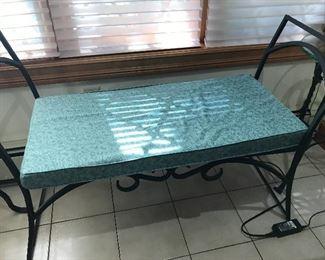 Wrought iron bench - indoor/outdoor