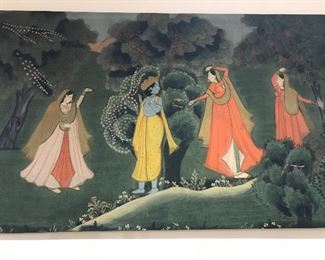 Fabric art 4' x 3' from India