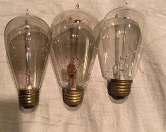 Early 1900's Edison bulbs by Mazda GE