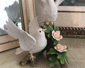 Gorham ceramic doves