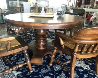 Colonial Style Table & 4 Chairs