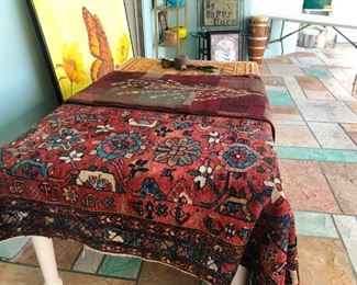 Vintage to antique rugs of unknown origin.