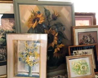 various paintings and prints