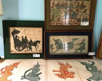 Antique Asian artwork