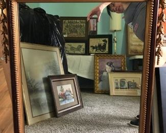 Antique Federal mirror.  Has some cracks in the frame.   Said to be over 100 years old.