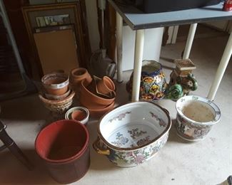 Group of flower pots