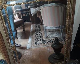 Vintage Italian mirror, hand carved wood