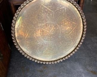 Absolutely Beautiful Serving Tray. Silver plated.