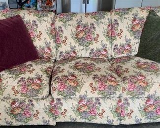 Floral Accented Couch . Great price and great condition .