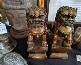 Foo Lion Bookends