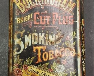 Antique Buckingham Tobacco Tin