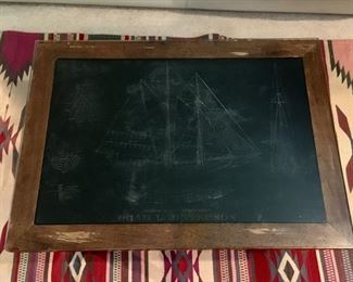 Etched coffee table