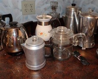 ASSORTED COFFEE POTS