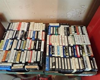 WE HAVE 100'S OF 8 TRACKS - AND A LOT OF 8-TRACK PLAYERS.  THEY WORK AND HAVE REALLY GOOD SOUND.