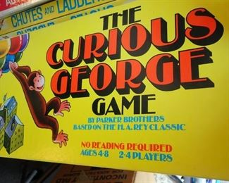 VINTAGE GAMES & TOYS  - THE CURIOUS GEORGE GAME